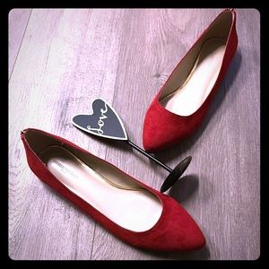 Banana republic red flats 10